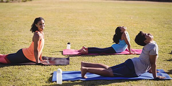 kids yoga session summer camp